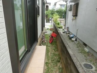 三木市K様邸のお庭の工事がはじまりました